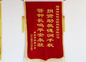 廊坊实验小学锦旗